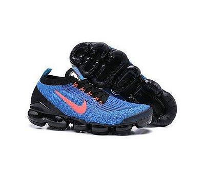 Tênis Nike Air Vapormax Flyknit 3 Azul e Vermelho