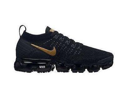 Tênis Nike Air Vapormax Flyknit 2 Preto e Dourado
