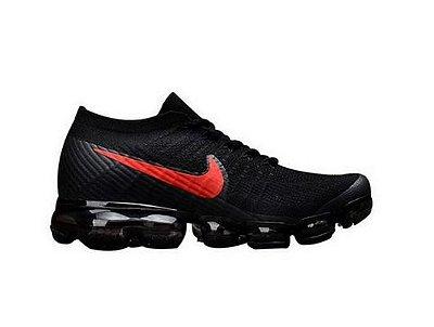 Tênis Nike Air Vapormax Flyknit Preto e Vermelho