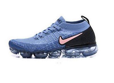 Tênis Nike Air Vapormax Flyknit 2 Azul Claro e Preto