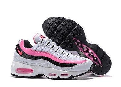 Tênis Nike Air Max 95 Branco e Rosa