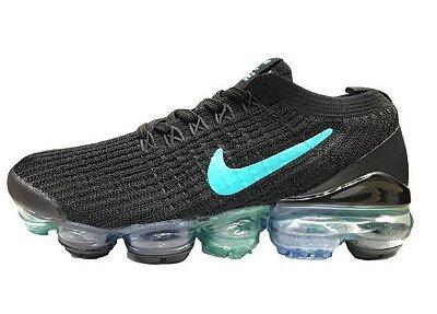 Tênis Nike Air Vapormax Flyknit 3 Preto e Azul