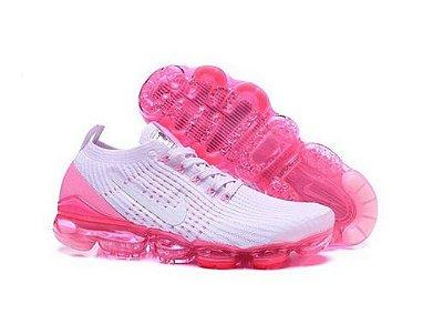 Tênis Nike Air Vapormax Flyknit 3 Branco e Rosa