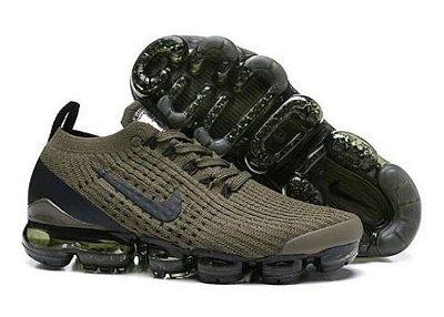Tênis Nike Air Vapormax Flyknit 3 Verde e Preto