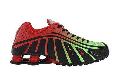 Tênis Nike Shox R4 Vermelho e Verde