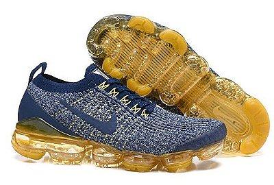 Tênis Nike Air Vapormax Flyknit 3 Azul e Amarelo