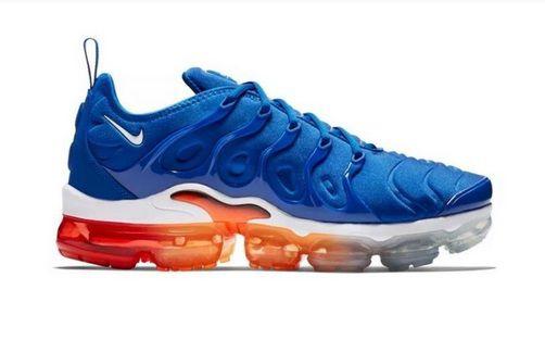 Tênis Nike Air VaporMax Plus Azul e Laranja