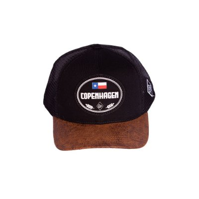 BONÉ COPENHAGEN BLACK BROWN