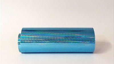 Rolo adesivo Starfix Holográfico Azul - Formato 20cm x 1metro