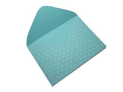Envelopes 114 x 162 mm - Aruba Decor Bolinhas Branco - Lado Externo