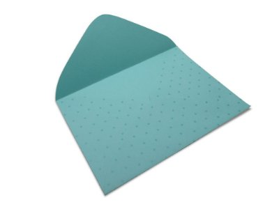 Envelopes 114 x 162 mm - Aruba Decor Bolinhas Incolor - Lado Externo