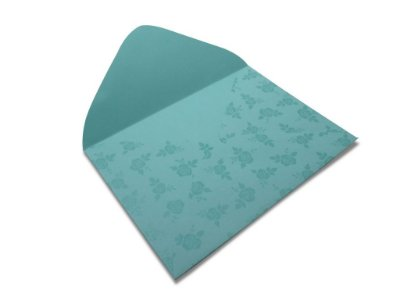 Envelopes 114 x 162 mm - Aruba Decor Rosas Incolor - Lado Externo
