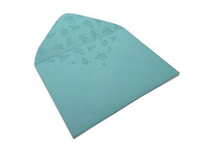 Envelopes 114 x 162 mm - Aruba Decor Rosas Incolor - Lado Interno