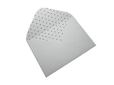 Envelopes 114 x 162 mm - Branco Decor Bolinhas Pretas - Lado Interno