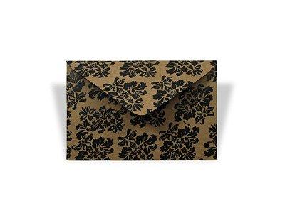 Envelopes 72 x 108 mm - Kraft Decor Arabesco Preto - Lado Externo