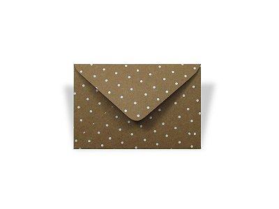 Envelopes 72 x 108 mm - Kraft Decor Bolinhas Brancas - Lado Externo