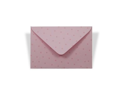 Envelopes 72 x 108 mm - Rosa Verona Decor Bolinhas Incolor - Lado Externo