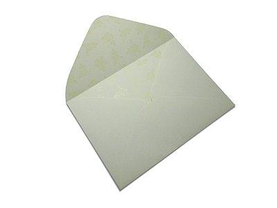 Envelopes 114 x 162 mm - Creme Decor Rosas Incolor - Lado Interno