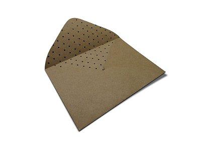 Envelopes 114 x 162 mm - Kraft Decor Bolinhas Pretas - Lado Interno