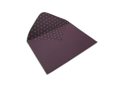 Envelopes 114 x 162 mm - Mendoza Decor Bolinhas Branco - Lado Interno