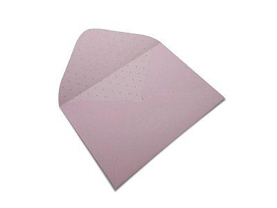 Envelopes 114 x 162 mm - Rosa Verona Decor Bolinhas Incolor - Lado Interno