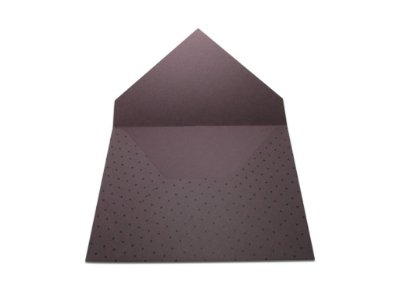 Envelopes 165 x 225 mm - Mendoza Decor Bolinhas Pretas - Lado Externo