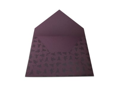 Envelopes 165 x 225 mm - Mendoza Decor Rosas Pretas - Lado Externo