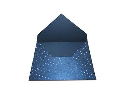Envelopes 165 x 225 mm - Relux Gálaxia Decor Bolinhas Brancas - Lado Externo
