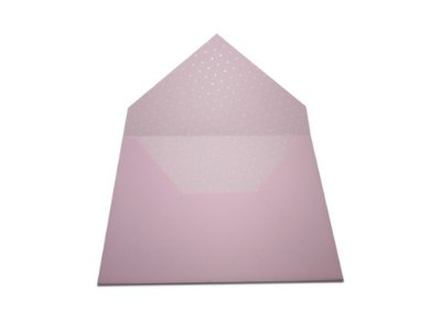 Envelopes 165 x 225 mm - Rosa Verona Decor Bolinhas Brancas - Lado Interno