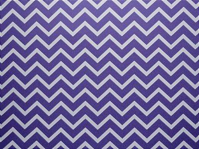 Decor Chevron Violet - Branco