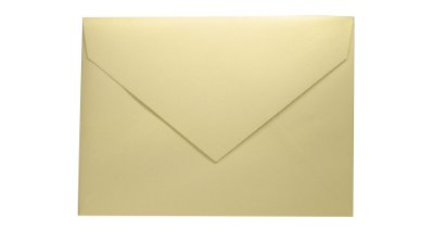 Envelopes 165 x 225 mm - Metallics White Gold c/ 50 unidades