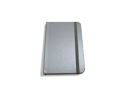 Caderneta Tipo Moleskine Prata