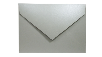 Envelopes convite Metal Color Blue Stone com 50 unidades
