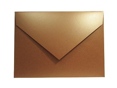 Envelopes convite Metallics Cooper com 50 unidades