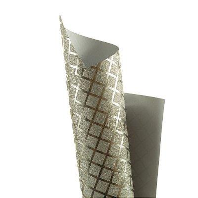 Papel Cryogen Square Silver 30,5x30,5cm com 2 unidades
