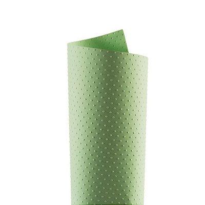 Papel Tx Realce Bolinhas Verde 30,5x30,5cm com 5 unidades