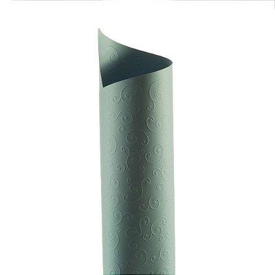 Papel Tx Realce Arabesco Azul Santorini 30,5x30,5cm com 5 unidades
