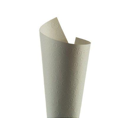 Papel Tx Realce Arabesco Branco 30,5x30,5cm com 5 unidades