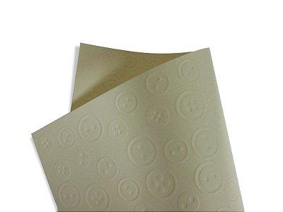 Papel Tx Realce Botões Creme 30,5x30,5cm com 5 unidades