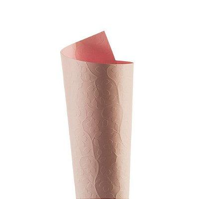 Papel Tx Realce Floral Rosa Verona 30,5x30,5cm com 5 unidades