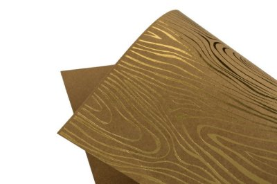 Papel Hot Decor Madeira Kraft 30,5x30,5cm com 2 unidades