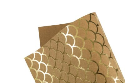 Papel Hot Decor Escamas Kraft 30,5x30,5cm com 2 unidades