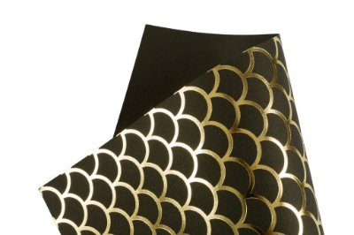 Papel Hot Decor Escamas Preto 30,5x30,5cm com 2 unidades