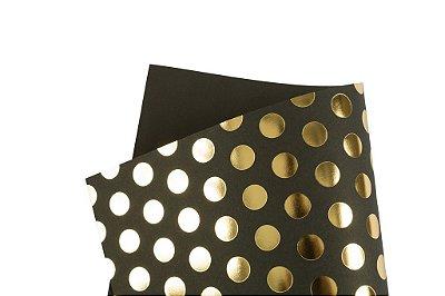 Papel Hot Decor Bolinhas Preto 30,5x30,5cm com 2 unidades