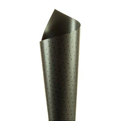Papel Relux Decor Bolinhas Pérola Negra - Preto 30,5x30,5cm com 5 unidades