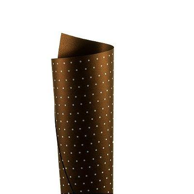 Papel Relux Decor Bolinhas Rust - Branco 30,5x30,5cm com 5 unidades