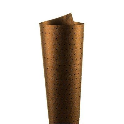 Papel Relux Decor Bolinhas Rust - Preto 30,5x30,5cm com 5 unidades
