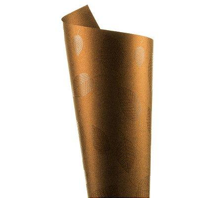 Papel Relux Decor Folhas Rust - Incolor 30,5x30,5cm com 5 unidades
