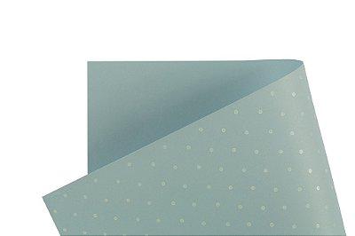 Papel Decor Bolinhas Azul Santorini - Branco 30,5x30,5cm com 5 unidades