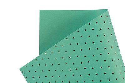 Papel Decor Bolinhas Aruba - Preto 30,5x30,5cm com 5 unidades